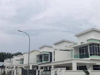 TAMAN KEMPAS UTAMA BRAND NEW Double Storey Cluster House FOR SALE