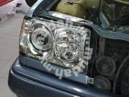 Benz w201 projector head lamp chrome