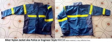 Biker Nylon Jacket aka Police or Engineer Style Re