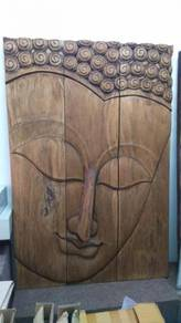Aipj Buddha wood panel painting in natural