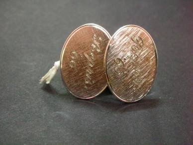 PN014 Vintage Cuff links signed Anson Sterling