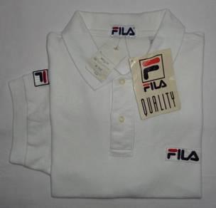 Fila Logo White Polo Shirt (SIZE L)