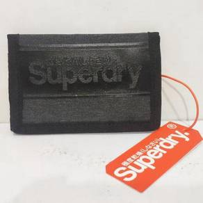 Superdry Velcro Logo Wallet - Charcoal Marl