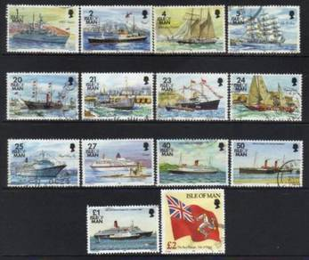 Isle of man 1993 ships series used cat 11+ bL61