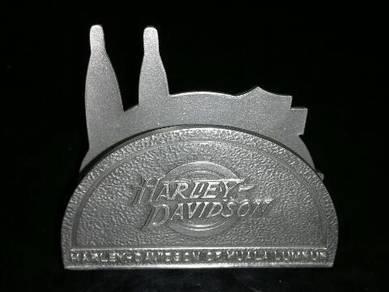 HARLEY DAVIDSON CARD PAPER HOLDER Pewter