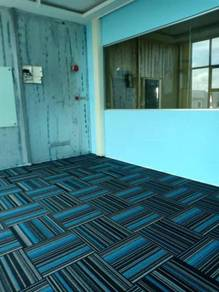 Install new tile carpet for office pasang karpet
