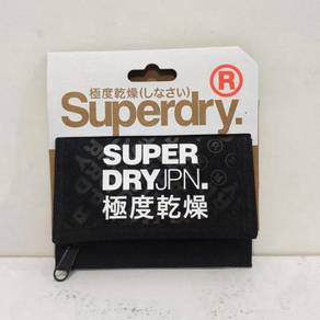 Superdry TriFold Polyester Wallet BlackDiamond