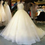 Ivory white bridal prom evening dress gown RB0607