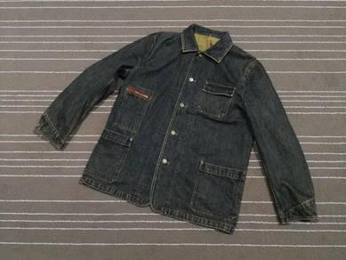Denim 3 can 4 on jacket selvedge saiz xl