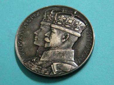 1910-1935 Jubilee George V Queen Mary Silver Medal