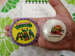 TMNT Ninja Turtles Teenage Mutant 1988 Pin Badge