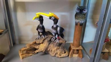 Aipj Hornbill on teak wood stand