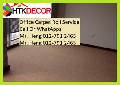 Classic Plain Design Carpet Roll with Install K7PB