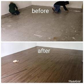 Vinyl Floor Lantai Timber Laminate PVC Floor Z312
