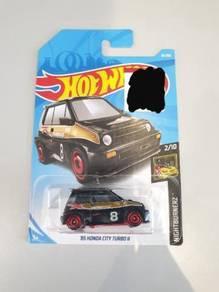 HotWheels '85 Honda City Turbo ll Matte Black