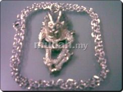 ABPSM-D024 Silver Metal Dragon Pendant Necklace