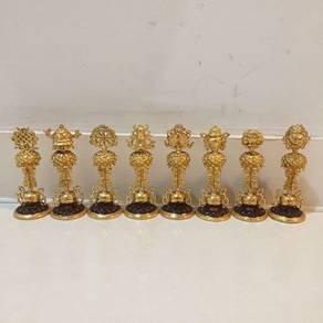Gold Plated Tibetan Eight Lucky Auspicious Symbols