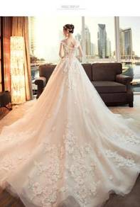 Cream fishtail wedding bridal dress gown RB0876