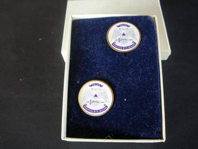 PN011 Vintage cuff links 2pcs set with box