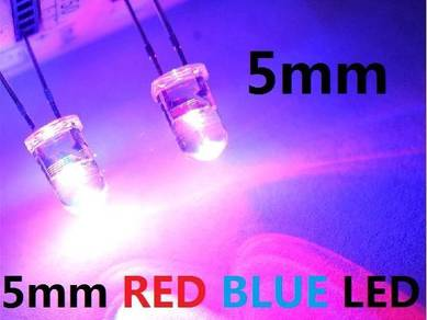 5mm RED BLUE LED Bulb Light Emitting Diode flasher
