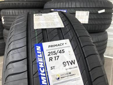Tayar baru 215 45 17 Michelin primacy 4 new tyre