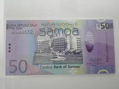 (BN 0130) 2008 Samoa 50 Tala, 1st Prefix S/N 532