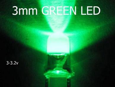 3mm Green LED Bulb Light Emitting Diode Lamp