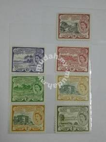 (RB 094) 1956 Nevis QE II Stamps Set In 7- MNH