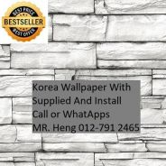 Wall paper Install at Living Space A855Q