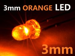 3mm orange LED Bulb Light Emitting Diode Lamp