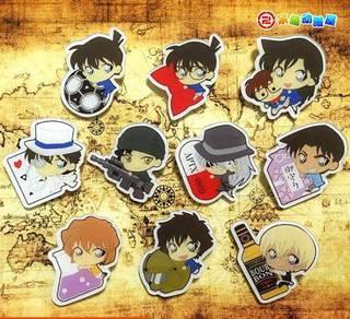 Anime detective Conan keychain set