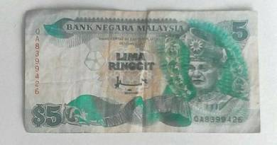 RM 5 Note - 7TH SERIES 1995-1998