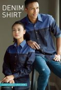 Baju Kemeja Korporat Corporate Denim Uniform MALE