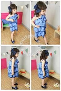 New Cute Gal-Gal Princess Sundress - Blue