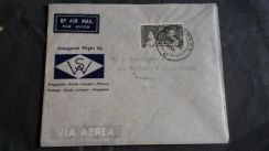Cover MALAYA First Flight 1937 No 2325
