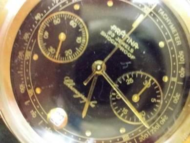 Vintage Pratina chronograph watch manual wind