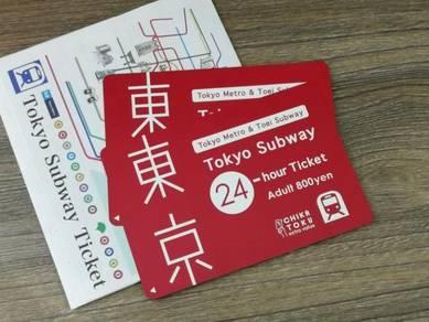 Japan Tokyo Subway Train Pass ticket