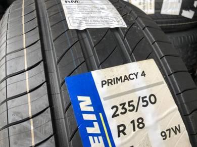 Tayar baru 235 50 18 Michelin primacy 4 new tyre