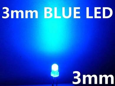 3mm Blue LED Bulb Light Emitting Diode Lamp