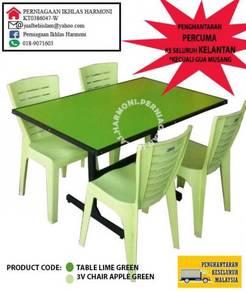 Meja makan cafe/ restoran kod: hijau epal/ rimba