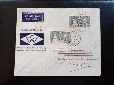 Cover MALAYA First Flight 1937 No 218