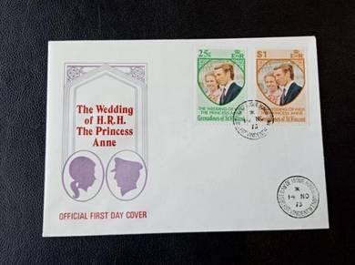 FDC St Vincent Wedding 1973 No 227