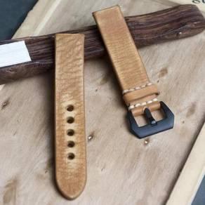 STRAPSCO Orange Distressed Leather Watch Strap