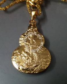 ABPGF-D001 Cool 9K Gold Filled Men Dragon Necklace