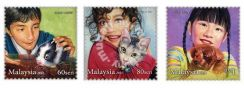 Mint Stamp Children Pet Malaysia 2011