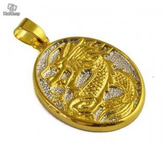 ABPGF-D002 Cool 9K Gold Filled Men Dragon Necklace