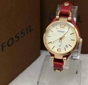 Fossil Ladies' Watch (Red strap)