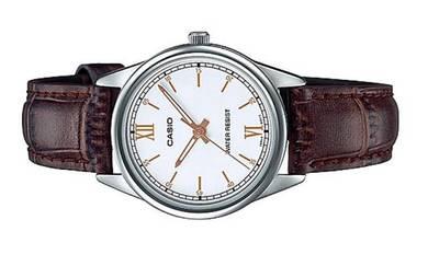 Casio Ladies Analog Leather Watch LTP-V005L-7B3UDF