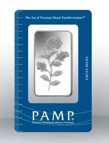PAMP Rosa Silver Bar 50g