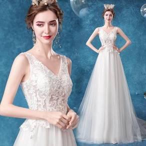 White prom wedding bridal dress gown RB2104